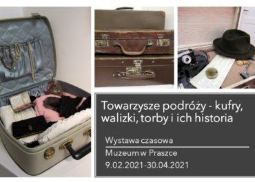 """Wystawa """"Towarzysze podróży kufry, walizki torby i ich historia"""""""